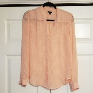 Sheer pink blouse